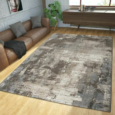 Modern Rug Living Room Rugs High Low Texture Palm Design In Grey Beige
