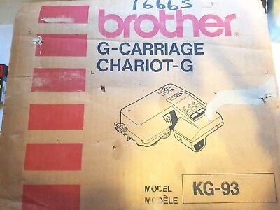 Brother Knitting Machine Parts Accessories Rare Kg93 G Garter Carriage Boxed