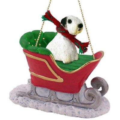 Sealyham Terrier Sleigh Ride Dog Ornament