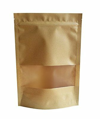 51groups Kraft Paper Bag with Transparent Window50-Pack Dry Food Snack Storage |
