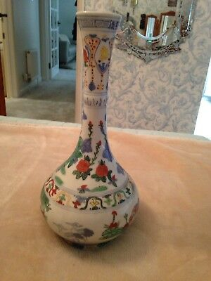 Antique Tall  Quality Chinese /Japanese Porcelain Vase Signed