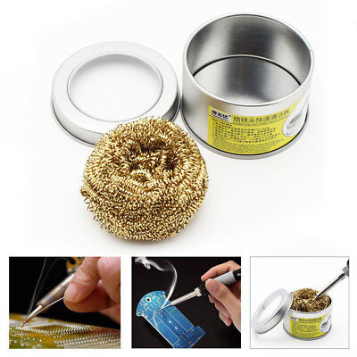 New 66*40mm Soldering Iron Tip Cleaner With Brass Wire Sponge No Water Needed