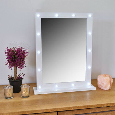 Large Hollywood Style Light Up Vanity Mirror Dressing Room Mirror 50cm x 40cm