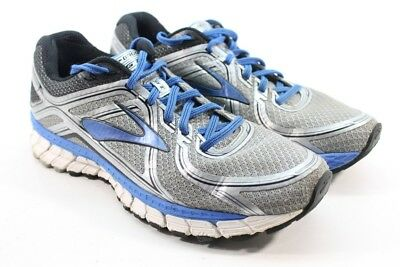 45f05986ad9eb Brooks Adrenaline GTS 16 Men s Silver Electric Blue Shoes UK 9.5  EU 44.5