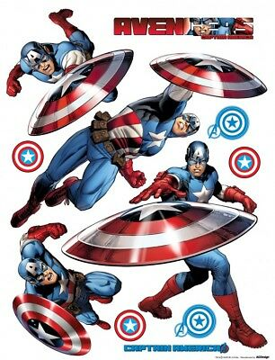 Avengers Captain America Marvel Sticker Autocollant Mural