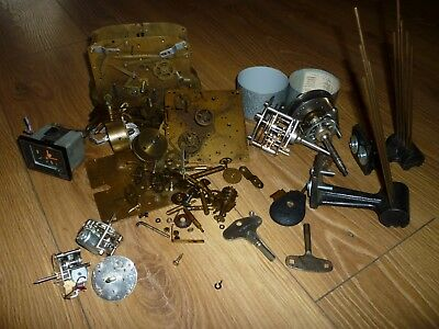 Job lot of Antique Clock Parts