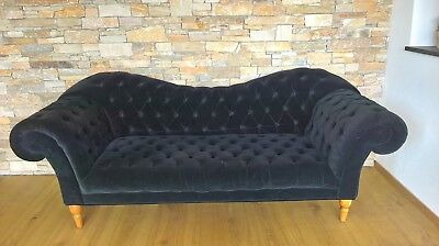 Chesterfield Sofa Garnitur 3 Sitzer Samt Luxus Designer Couch