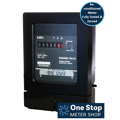 Sangamo SPA Single Phase 80A Electric Meter - Reconditioned & Fully Tested