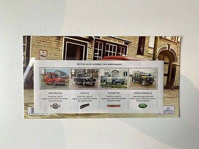 Royal Mail Mint Stamps Pack British Auto Legends: The Workhorses 2013