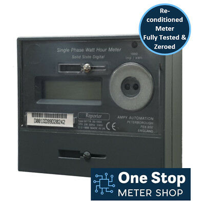 Ampy Reporter Single Phase 100A Electric Meter - Reconditioned & Fully Tested