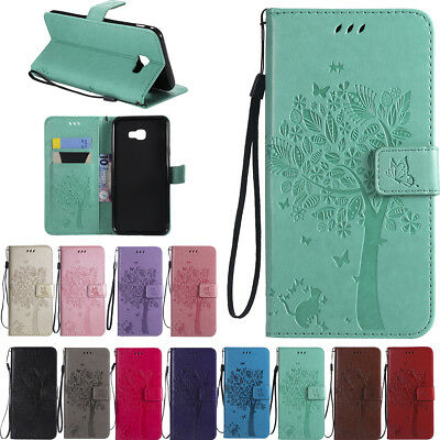 For Samsung Galaxy A6 A7 A8 A9 2018 Slim Leather Flip Magnetic Wallet Case Cover