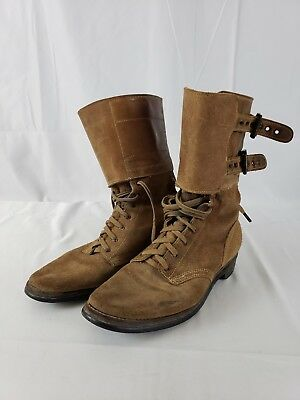WWII 1943 Dated WAC/Army Nurse Corps Double Buckle Boots Vintage WW2