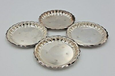 4 x 1972 Sterling Silver Mappin & Webb Trays / Pin Tray / Coaster (6945T)