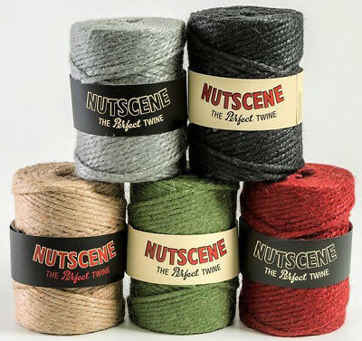 Thick Coloured Rope - 7mm NATURAL JUTE TWINE - Various Colours - UK SELLER