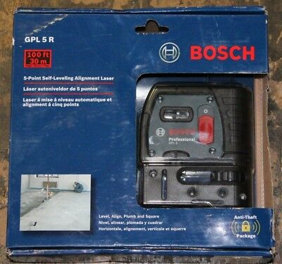 Bosch 5-Point Self-Leveling Alignment Laser GPL5R FREE SHIPPING!