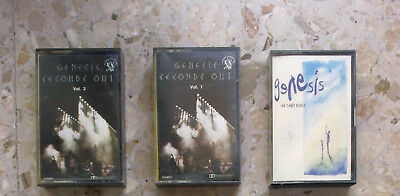 GENESIS - LOTTO 3 cassette anni '77+'91 - SECONDS OUT vol.1 & 2 + WE CAN'T DANCE