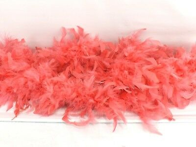 Vintage Pink Feather Boa 6 ft. Long Dress Up Costume