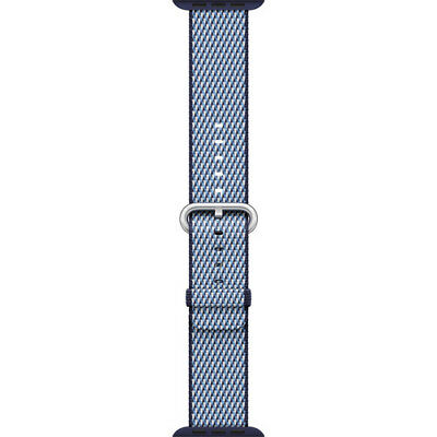 Apple Watch Woven Nylon Band (38mm, Midnight Blue Check)