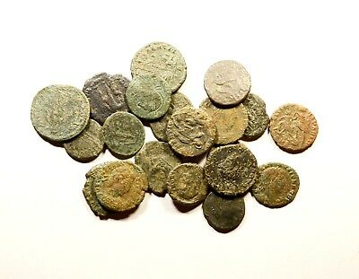 Lot Of 20 Imperial Roman Bronze Coins For Identifying - Low Quality - 04