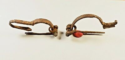 AMAZING GENUINE ANCIENT ROMAN IRON BROOCH / FIBULA - c 250 AD - LOT OF 2