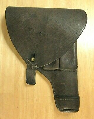 WWII Swedish military M1907 Browning Holster Dated 1939 with Crown 9mm