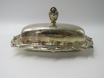 Vintage Butter Dish W/Lid,Victorian Lunt E50,Stainless Silverplate