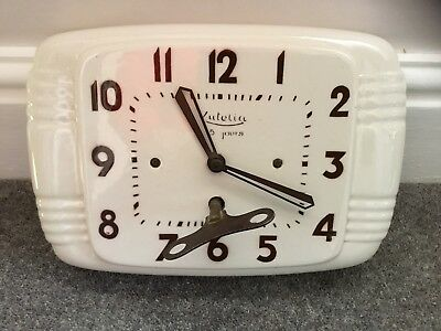 Ceramic french art deco wall clock - totally original