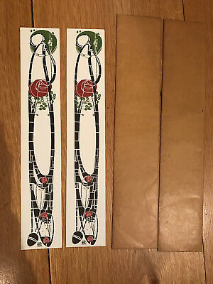 2 -Charles Rennie Mackintosh -Univ. of Glasgow collection elongated cards 1980s
