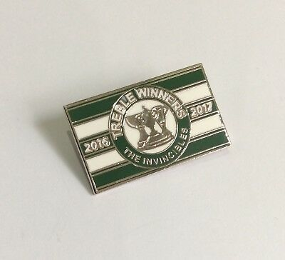 "GLASGOW CELTIC Football Club Badge FC ""TREBLE WINNERS 2016-2017"" Supporters PIN"