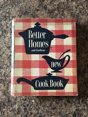 Vintage Better Homes and Gardens New Cook Book, published in 1953, Hard Cover