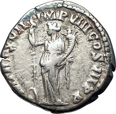 COMMODUS Marcus Aurelius son 192AD Ancient Silver Roman Coin Fortuna Luck i73599