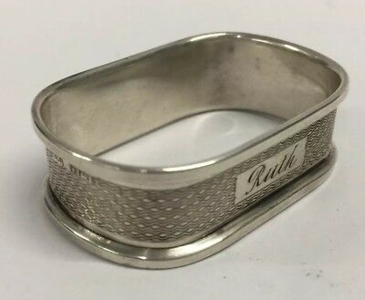 Vintage Sterling Silver Napkin Ring by Broadway & Co Birmingham Circa 1958