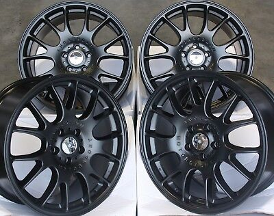 "ALLOY WHEELS X 4 18"" BLACK RT3 FITS 5x110 OPEL ASTRA CORSA MERIVA ZAFIRA"