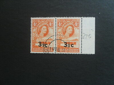 BECHUANALAND 1961 Marginal pair of Type 11 SG.161a (dated 1st day of issue) VFU