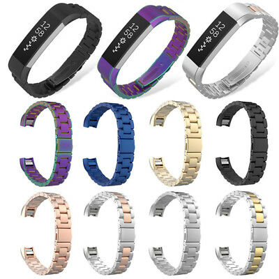 Replacement Stainless Steel Metal Watch Band Strap For Fitbit Alta & HR