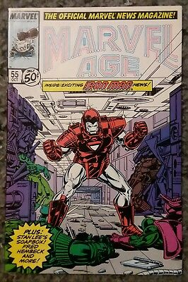 Marvel Age #55 Iron Man Cover (Oct 1987, Marvel)