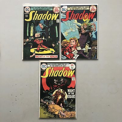 Lot of 3 Shadow (1973 1st Series DC) #6 7 10 VF Very Fine