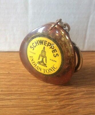 """Porte-Clef Ancien,"""" Schweppes  """",copoclephilie,indian Tonic,"""