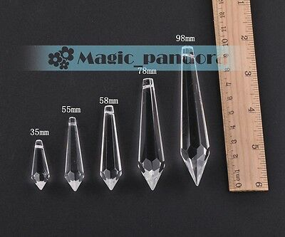 Wholesale Crystal Glass Teardrop Pendant Charm Faceted Drilled Clear Loose Beads