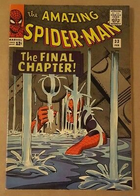 The Amazing Spider-Man # 33, Steve Ditko, Stan Lee, 1966 Marvel Comics No CGC