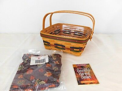 Longaberger 1997 Shades of Autumn Bountiful Harvest Basket Liner & Protector
