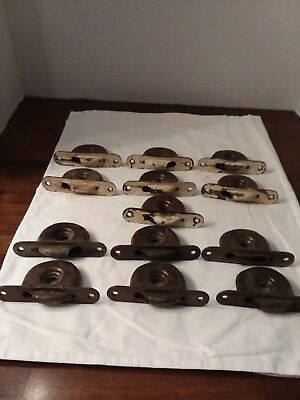 13 Antique Cast Iron Window Sash Pulleys