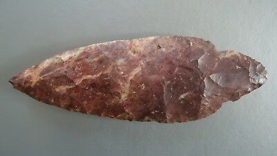 """Authentic Native American Indian Stone Arrowhead Vintage 5 1/2"""" Length"""