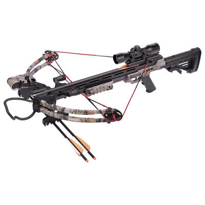 Crosman Sniper 370 Compound Crossbow Package & 4x32mm Scope - Camo