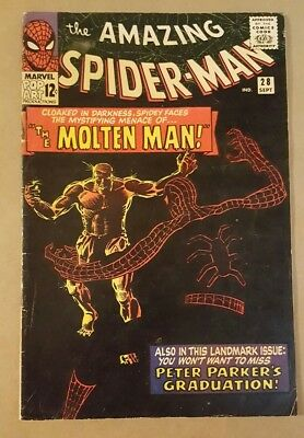 The Amazing Spider-Man #28 Sep 1965, Marvel comic group No CGC