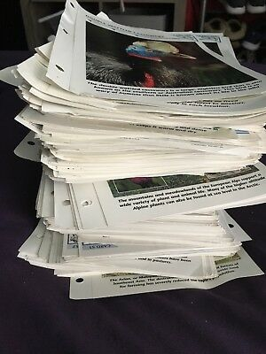Vtg Wildlife Fact File Animals - Mammals - Birds - Fish - Insects - Over 13 Lbs
