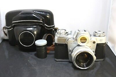 Zeiss Ikon Contarex Bullseye with Planar 1:2/50mm With Leather Case