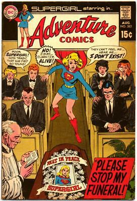 Adventure Comics 383 Supergirl Neal Adams Cover Dc Silver Age 1969 Bin