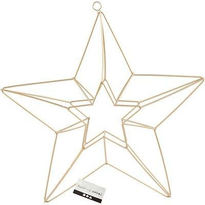 Metal Grande Estrella Marco Decoración - Liso Decorar Móvil