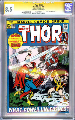 Thor #193 Cgc 8.5 Ss Signature Series Signed Stan Lee Silver Surfer 1971